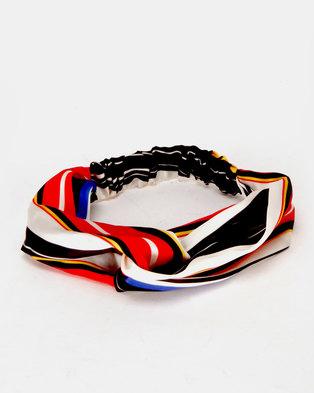 New Look Summer Stripe Half Turban Red