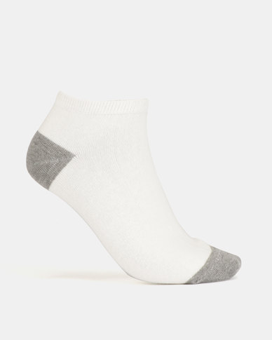 New Look 4 Pack Pink Marl H&T Trainer Socks Pale Grey