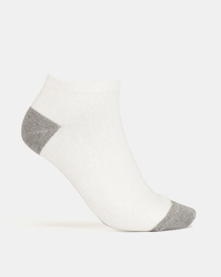 New Look 4 Pack Pink Marl H&T Trainer Socks Pale Grey