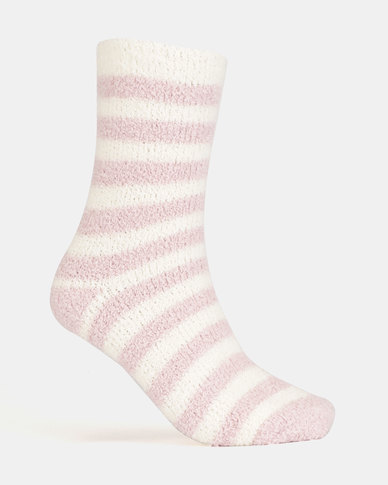 New Look 2 Pack Small Spot Boucle Socks Pink