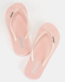 Soviet Rina Ladies Rubber Thong Sandals Nude Mono