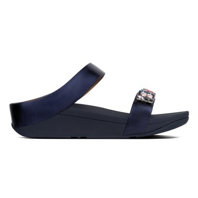 FitFlop Fino Bejewelled Slides Meteor Blue