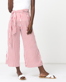 ECKÓ Unltd Culotte Stripe Pants Red/White