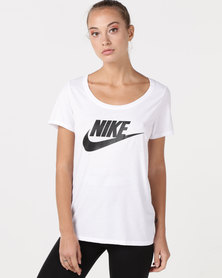 Nike W NSW Tee TBL SCP FTRA Logo White