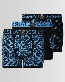 Crosshatch Neonbox 3pk Bodyshort Turquoise