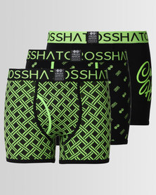 Crosshatch Neonbox 3pk Bodyshort Green