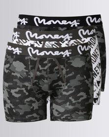 Money Comoros 3 Pack Bodyshorts Camo