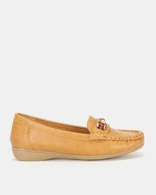 Foot Flex Classic Loafers Tan