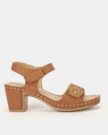 Foot Flex Ankle Strap Heels Tan