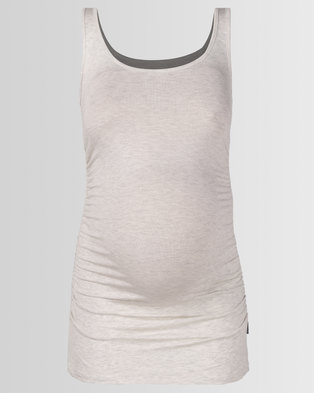 Cherry Melon Tank Top With Side Detail Ice Melange