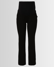 Cherry Melon Peg Pants With Tie Black