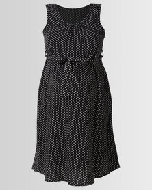 Cherry Melon Belted Tunic Dress Black/White