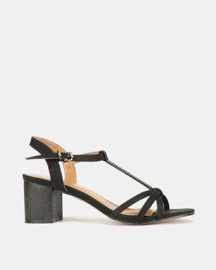 32f07e1b1ae4 Butterfly Feet Maleeka Heel Sandals Black