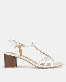Butterfly Feet Maleeka Heel Sandals Silver