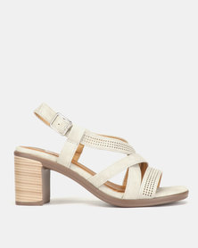 Butterfly Feet Corinne Heel Sandals Light Grey