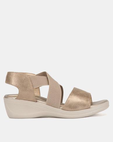 Butterfly Feet Melora Wedge Sandals Bronze