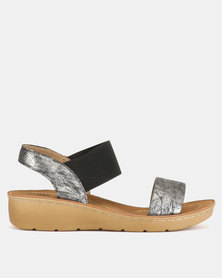 Butterfly Feet Mosina Wedge Sandals Black