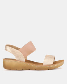 Butterfly Feet Mosina Wedge Sandals Nude