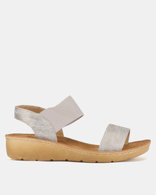 Butterfly Feet Mosina Wedge Sandals Grey