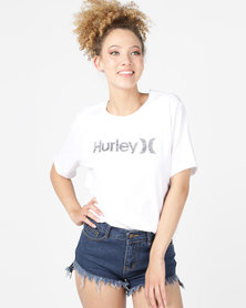 Hurley One & Only Perfect Crew T-Shirt White