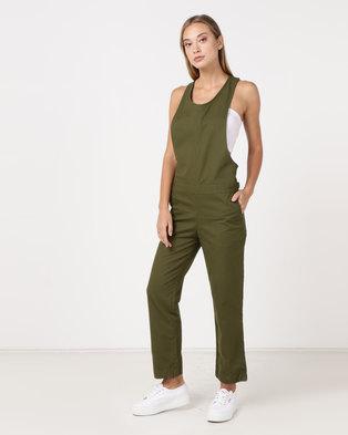 8b7f96789e23 Hurley Modernist Jumpsuit Olive Canvas