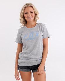 Fox Bolted Fox Crew T-Shirt Heather Grey