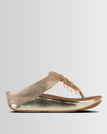 FitFlop Cha Cha Gold Shimmer