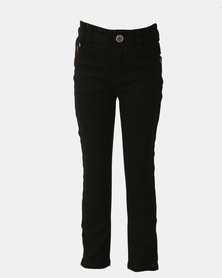 Soviet Boys Strikers Denim Skinny Jeans Black