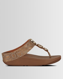 FitFlop Halo Python Bronze