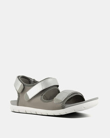 FitFlop Neoflex Sandals Soft Grey/Silver