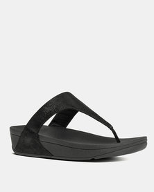 FitFlop Shimmy Suede Black Glimmer