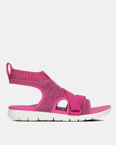 FitFlop Uberknit Sandals Fuchsia/Dusky Pink