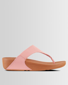 FitFlop Lulu Leather Dusky Pink