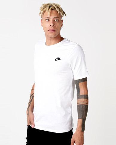 Nike M NSW Tee Club EMBRD FTRA White  b2be338de6a06