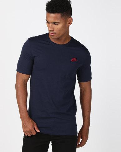 Nike M Nike Sportswear Tee Club Embroidered Futura Blue