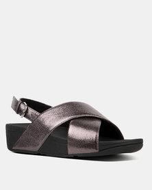 FitFlop Lulu Molten Metal Sandal Pewter
