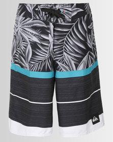 Quiksilver Boys Slab Island Youth 18 Boardshorts Black