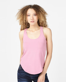 Utopia Easy Vest Dusty Pink
