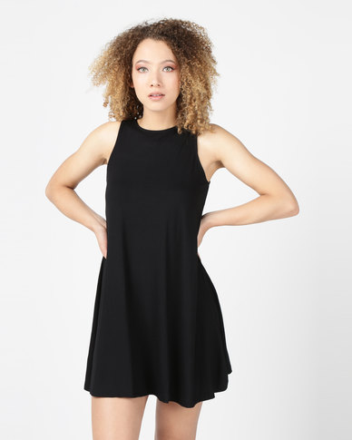 Utopia Sleeveless A-Line Dress Black