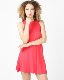 Utopia Sleeveless A-Line Dress Red