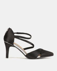 Bata Ladies Pointy Dress Heeled Shoes Black