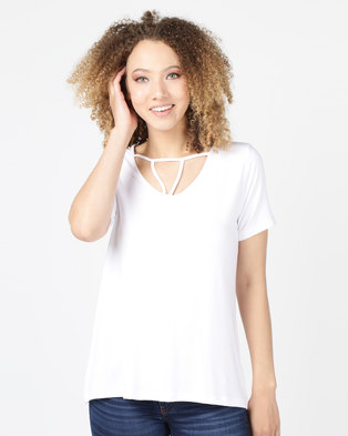 Utopia Top With Strappy Front White