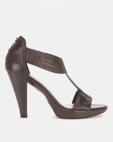 Froggie Mia Platform Sandals Black