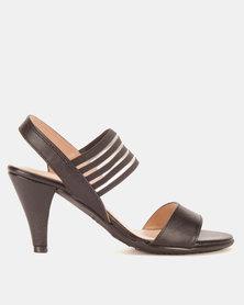 Froggie Merisa Elastic Heel Sandals Black