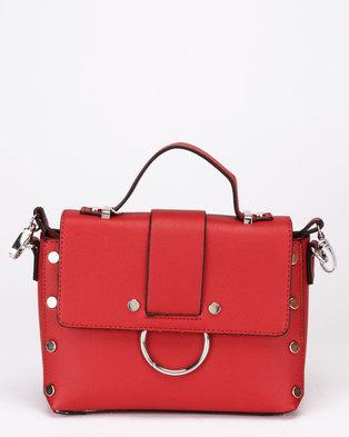 New Look Olivia Round Metal Crossbody Bag Bright Red