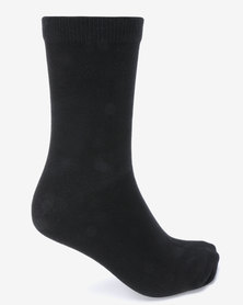 New Look 4 Pack Plain Ankle Socks Black
