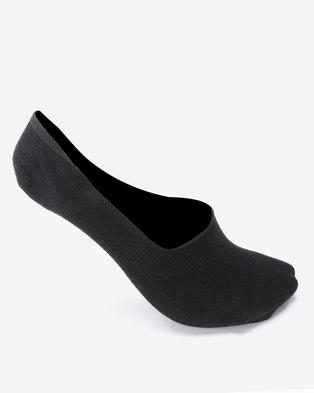 New Look 3 Pack Ballerina Grip Socks Black