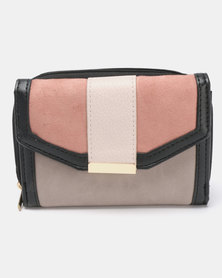 New Look Winter Mini Monica Pattern Purse Pink