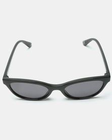 New Look Mini Short Frame Cateye Sunglasses Black