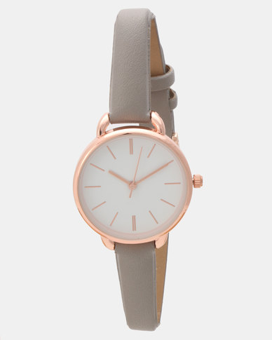 New Look Cute Curved Shoulder Watch Charcoal